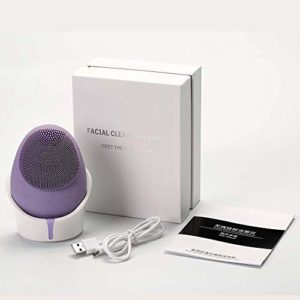 NMQQ Brosse nettoyante pour le visage et appareil de soin de la peau anti-âge, en silicone Masseur Visage USB Rechargeable Imperméable Exfoliateur profond Outil de maquillage pour chaque type de peau