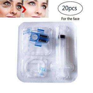 NMQQ Lot de 20 consommables d'aiguilles pour mésothérapie sans aiguille Mésothérapie pour le visage et la peau Hydratant, raffermissant, levant le rajeunissement de la peau