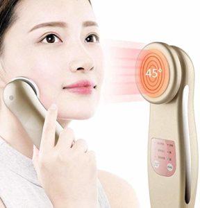 NMQQ Portable Multifonction Nettoyant Visage Raffermissant Massager 45° Essence Iontophoresis Appareil Soulève l'instrument de nettoyage des pores pour rajeunissement Blanchissement de la peau