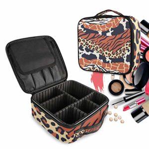 Peaux De Tigre Zèbre Léopard À Imprimé Mixte Trousse Sac Cosmétique Organisateur de Maquillage Pochette Sacs Cas avec Cloisons Amovibles pour Voyage Les Femmes Filles
