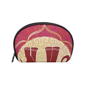 TIZORAX Sac à cosmétiques indien éléphant Sac de voyage Organiseur pratique Sac de maquillage Sac à main pour femmes filles