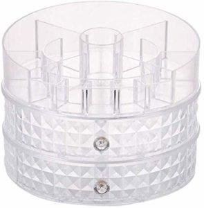360 ° de rotation réglable Makeup Case, Chambre Bijoux Boîte de rangement grande capacité salle de bains imperméable cosmétiques plateau (Color : A)