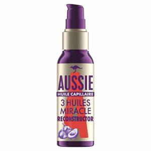 Aussie, Huile Capillaire Miracle Reconstructor, Soin des Cheveux, à l'Huile de Noix de Macadamia D'Australie, de Graine de Jojoba D'Australie et d'Avocat, 100ml