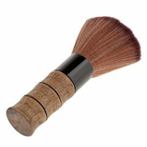 Balai à Cou en Poils Doux Epilation Blaireau à Coupe de Cheveux Pinceau Maquillage à Blush Fond de Teint Manche en Bois de Bambou QUALITE PROFESSIONNELLE
