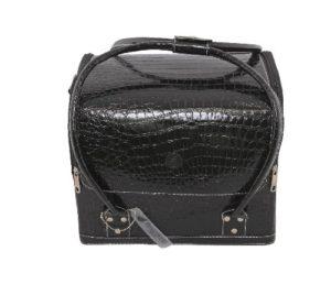 Beauty Boxes Paris cosmétiques Peau de crocodile Noir et mallette de maquillage