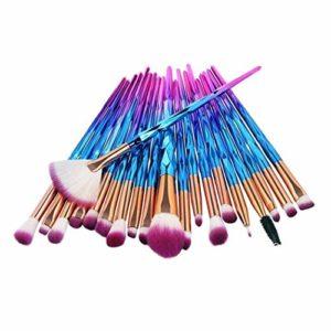 Brosse de maquillage Set 20pcs pinceau de maquillage multicolore base poudre de sourcils outil Maquillage Cosmétiques Set Brosses (Color : #01)