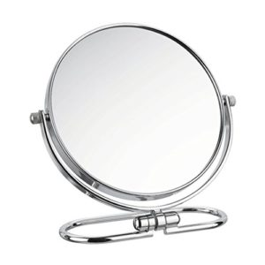 Cosmetic Mirror – Miroir de maquillage double face pliable, 360 degrés de rotation/Miroir de grossissement HD grossissant, pour le rasage cosmétique des soins de la peau (Color : 8 INCHES)