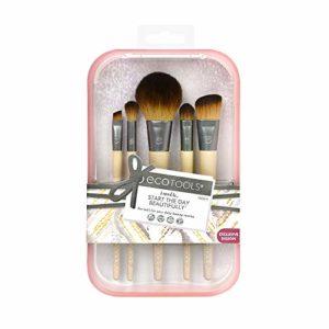 EcoTools Start the Day Beautifully Ensemble de pinceaux de maquillage, rose
