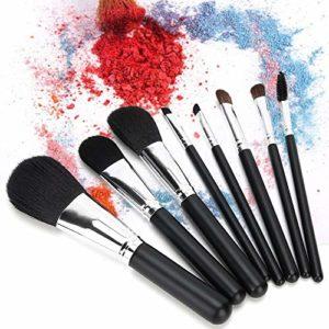 Ensemble de 8 pinceaux de maquillage Piecess, ensemble de pinceaux de maquillage Manche en bois Brosse de maquillage pour cheveux en nylon Brosse pour fard à paupières Brosses cosmétiques