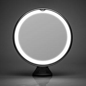 Fancii Miroir Maquillage Grossissant 7x Lumineux à Ventouse avec 20 Lumières LED Naturelles, Verrouillage Ventouse, Miroir Cosmétique de Voyage Sans Fil, Rotation à 360° et Fonctionnant sur batterie