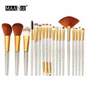 IFOUNDYOU Brillant Kit De Maquillage Pinceau Outils Kit De Toilette Pinceaux Glitter Set 18Pcs