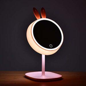 JERPOZ Miroir D'éclairage À LED 360 Est Un Miroir De Maquillage De La Table Rotative for Les Soins du Visage Rasage Et Cosmétiques