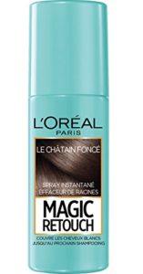 L'Oréal Paris Spray Instantané Correcteur de Racines & Cheveux Blancs, Magic Retouch, Châtain Foncé, 75 ml