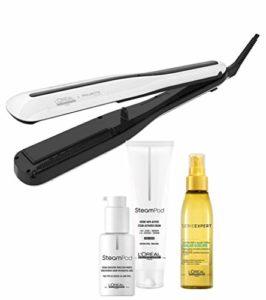 L'OREAL PROFESSIONNEL Steampod 3.0 Lisseur Vapeur Professionnel + Sérum Pointes + Crème Cheveux Épais + Soin-Spray Solar Sublime