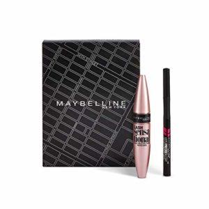 Maybelline New-York – Coffret Maquillage Yeux : Mascara Cils Sensational 01 Noir 9,4 ml + Liner Hyper Precise Allday 700 Noir 1 ml