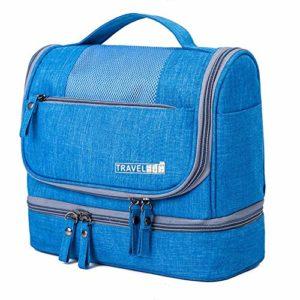 MSYOU voyage gommage sac de toilette sac cosmétique hommes et femmes sac de bain imperméable sac de rangement de voyage sac de voyage cosmétique portable taille 25 * 21 * 11.5 cm
