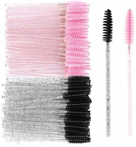 MWOOT Brosses à Cils Jetables (Lot de 100), Pinceau Goupillon Applicateur de Mascara et Brosse à Sourcils, Kit de Pinceaux pour les Yeux