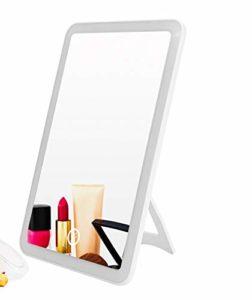OYPY Rechargeable L-E-D écran Tactile Miroir de Maquillage Professionnel Miroir avec LED Beauté Santé réglable 180 Rotating