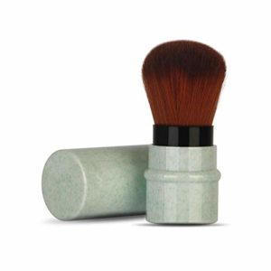 Pinceau de maquillage extensible professionnel durable pour les débutants pour mélanger le liquide en poudre(green)