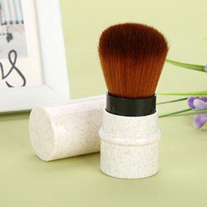 Pinceau synthétique pinceau de maquillage professionnel extensible pour mélanger le liquide en poudre(apricot)