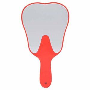 Rétroviseur à main 4 couleurs à la mode utile mignon poignée en plastique de soin des dents Outil de miroir