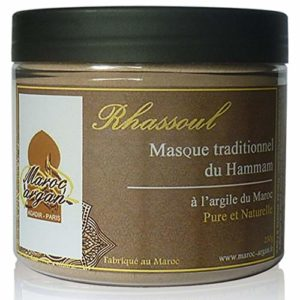 Rhassoul en poudre – Argile Purifiante du Maroc 100% Naturelle et Hypoallergénique – Masque Peau et Cheveux
