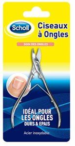Scholl Ciseaux à Ongles pour ongles de pieds durs et épais en acier inoxydable