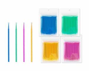 SCSpecial Lot de 400 micro-pinceaux jetables en coton pour application de maquillage