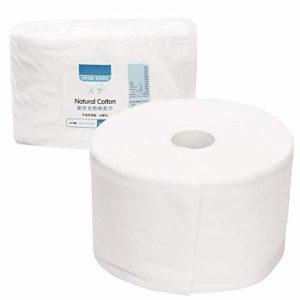 Serviette jetable pour le visage doux, rouleau de coton 30M nettoyant serviette en coton démaquillant gant de toilette lingettes en coton pour salon de beauté et soins de la peau à domicile