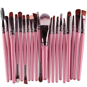 Visage Outil de maquillage, Jaysis 20pcs Fard à paupières Fond de teint sourcils lèvres Lot de pinceaux de