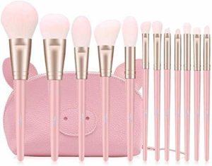 XHDMJ Outils De Beauté Pinceau De Maquillage Ensemble Professionnel Traitement Facial pour Les Yeux Fondation Blush Sourcil Brosse Outil De Réparation Adapté pour Débutant Rose