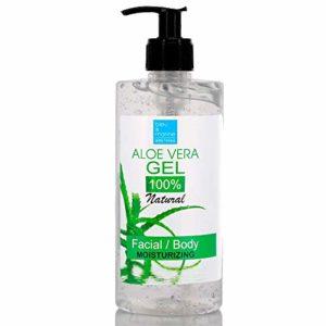 100% Natural Gel d'Aloe Vera 500 ml Excellent hydratant Visage & Corps Cheveux – Calmant Aprés Epilation