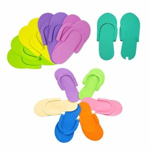 12pair / beaucoup de pantoufles de beauté de l'art séparateur spa pedicure mousse mousse de pantoufles jetables ongles doux pied à ongles couleur aléatoire Pantoufles intérieur ( Color : Mix )