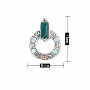 20pcs Strass – Cristal Bricolage Ongles Strass – Décoration Art Ongles – Foret En Verre Anneau – Foret En Alliage Art (8)