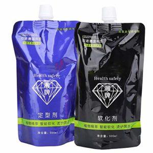 2pcs x 500ml crème pour les cheveux, salon de beauté crème de lissage des cheveux pour la coiffure(#2)