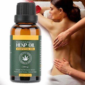 30 ml d'huile de graines de chanvre, huile essentielle de Massage corporel à domicile de salon huile essentielle de beauté de la peau pour soulager la pression apaisante améliorer le sommeil