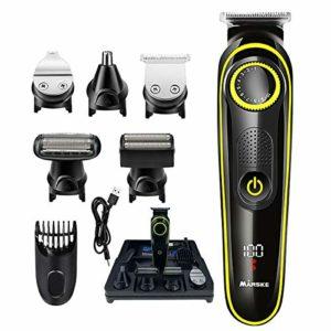 AuRiver Tondeuse Cheveux Professionnelle, 20 Réglages De Longueur Tondeuse Kit de Coupe de Cheveux 5 en 1 Multifonction Tondeuse électrique Barbe et Cheveux Rasage, Epilation