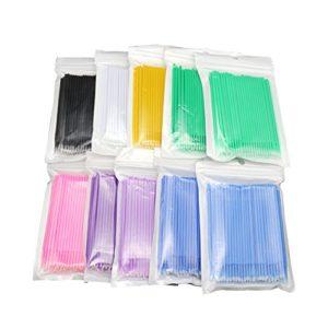 Austinstore Micro applicateur jetable pour maquillage beauté et soins personnels Bleu foncé + M *