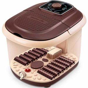 Baignoire de spa de pieds Avec la chaleur,Automatique Foot spa bath,Bain de pieds Bulles Rouleaux de reptiles Poignée électrique Pédicure Massage Salon de la maison Tremper-A
