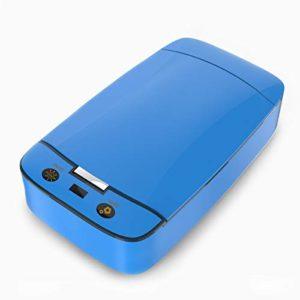 Boîte de Stérilisateur UV Machine de Désinfection à Lumière Ultraviolette pour Brosse à Dents Téléphone Pinces à Ongles Brosses Masque Facial Sucettes Beauté Définit Dispositif de Désinfection – Bleu