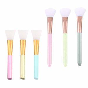 Brosse de maquillage Set Brosse de masque facial, 6 brosses magiques de PCs for faire des gobelets de scintillement époxyde, outils faciaux de maquillage de soin de peau de brosse de silicone et outil