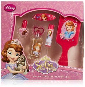 Disney Sofia the First Coffret cadeau, eau de toilette, cosmétique et cheveux, 1er Pack (1x 5pièces)
