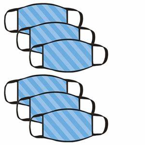 DOLLAYOU 6pc Serviette confortable et agréable pour la peau en tissu de coton imprimé à la mode adulte (F)