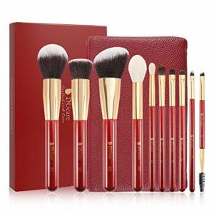 DUcare Pinceau Maquillage 10Pcs Pinceaux Professionnel Kits Poils Synthétiques Pour Fond de Teint Blush,Highlighter,Lèvre,Creux de La Paupière,Sourcils,Ombreur