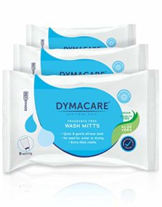 DYMACARE Gants de Toilette Jetables Sans Parfum | Gants de Lavage Humide | Pour Toilette Corps Sans Rinçage (Lot de 3 paquets soit 24 gants)