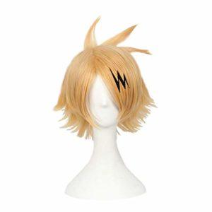 Elibeauty lunanana My Hero Academia Kaminari Denki Wig Les Cheveux Perruque de Cosplay de Partie de Perruque