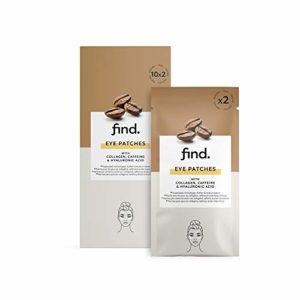 FIND – Patchs pour les yeux – 20 pièces – 10 paquets de 2 patchs