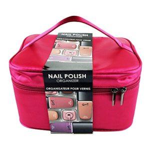 Gloss ! Make up & accessoires Coffret Cadeau Beauté Organisateur de Vernis à Ongles 15 Emplacements Rose