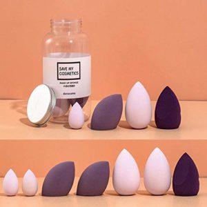 Greneric Beauté Oeuf Poudre Ultra Doux Nourrit Non Poudre Maquillage Oeuf Sec Humide Deux Utilisation Shake Lait Myrtille (7 Packs)