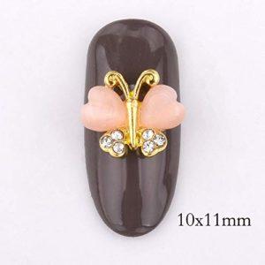 GUANGUA 10 Bijoux Strass Conception 3D Ongles Accessoires Flash Noeud Alliage d'or Bricolage manucure Art beauté Conseils
